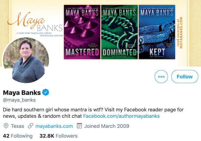 Maya Banks Twitter Header