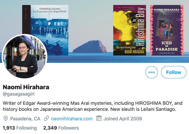 Naomi Hirahara Twitter Header