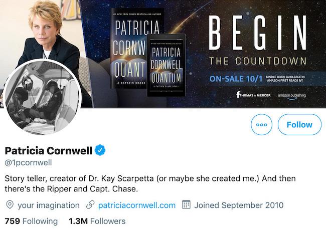 Patricia Cornwell Twitter Header