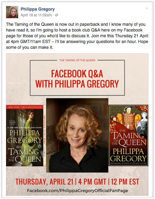 Facebook Author Q&A