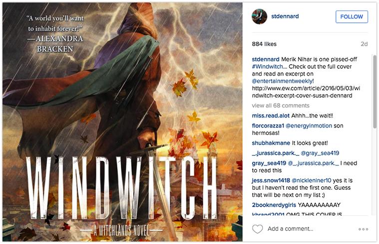 Cover reveal on Instagram