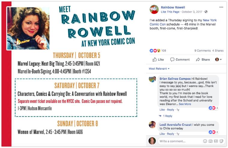Author event schedule image