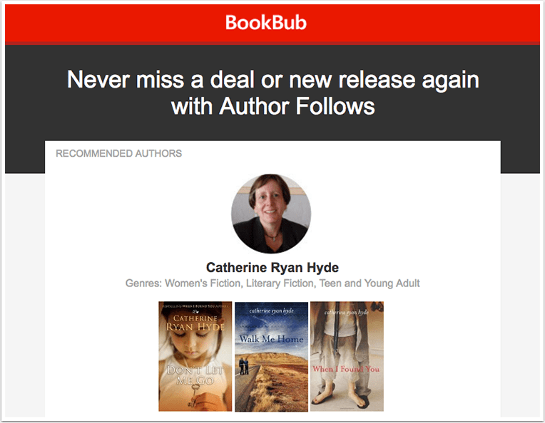 BookBub Author Follow Email