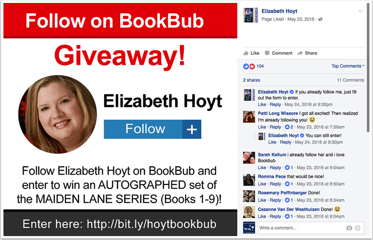 BookBub Follow Promo Example