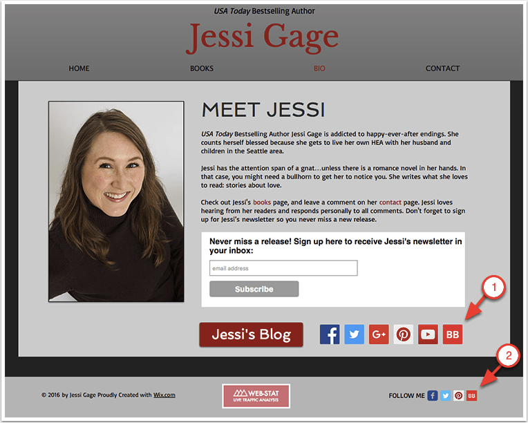 Jessi Gage's Website