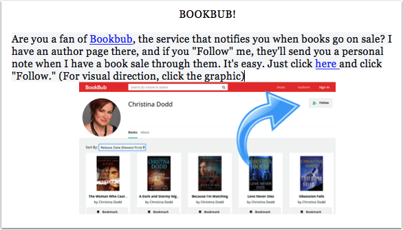 Newsletter CTA - BookBub Follow