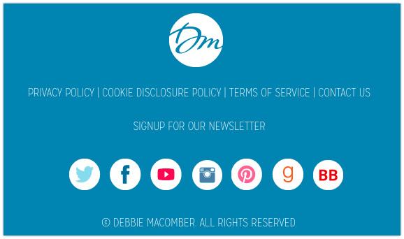 Debbie Macomber's Site Footer