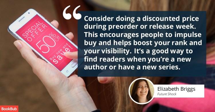 Elizabeth Briggs's Book Marketing Tip