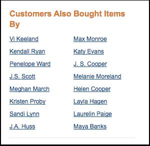 Customer's also bought sidebar