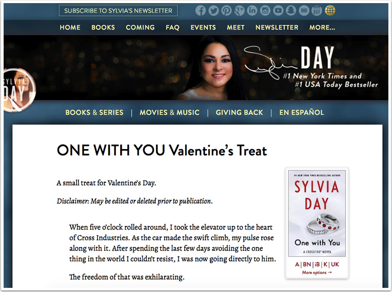 Well-timed excerpt on Valentine's Day