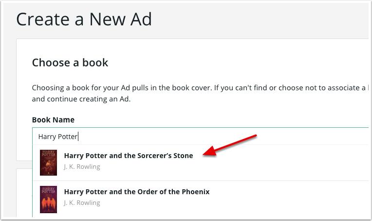 BookBub Ads - Create New Ad