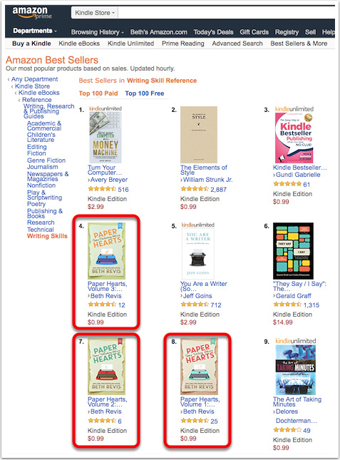 Ranking for the nonfiction ebooks