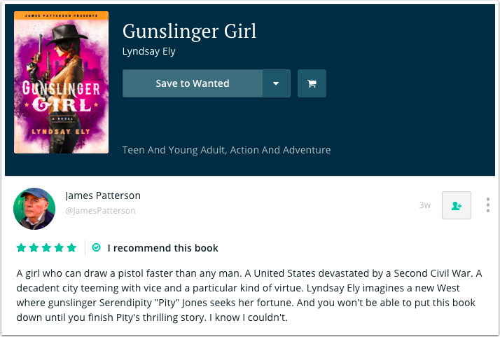 James Patterson's Recommendation