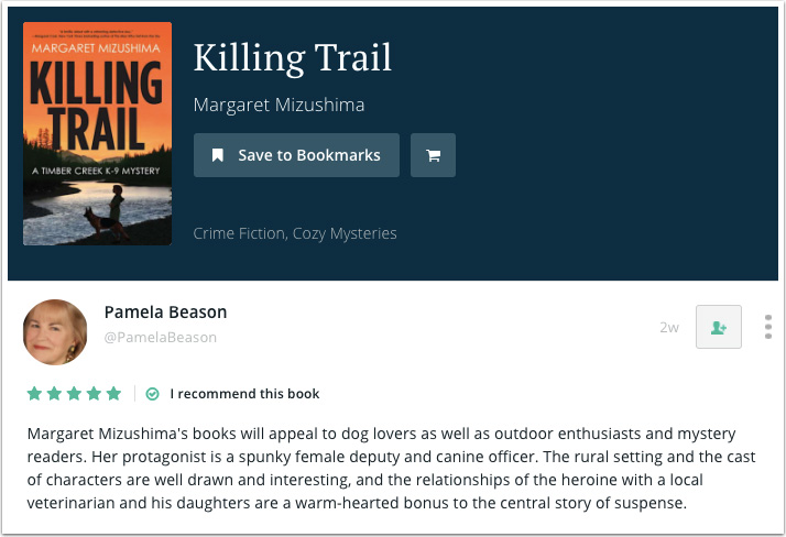 Pamela Beason's Recommendation