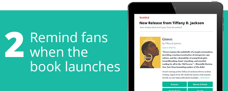 Remind Fans When the Book Launches