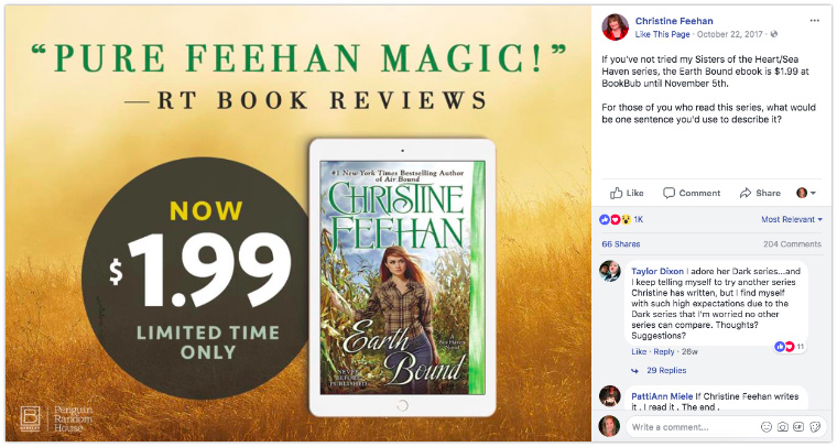 Christine Feehan - Promote a discount price