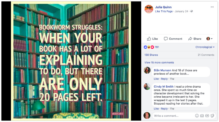 Julia Quinn - Display quotes or funny quips as a graphic