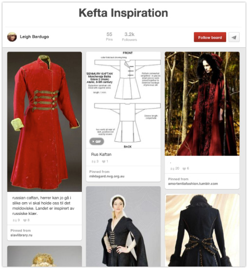 Leigh Bardugo - Display character art and costumes