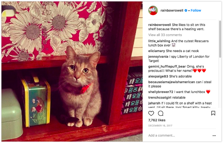 Rainbow Rowell - Show books with an adorable fuzzball