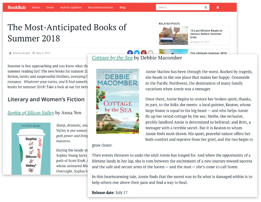BookBub Blog placement