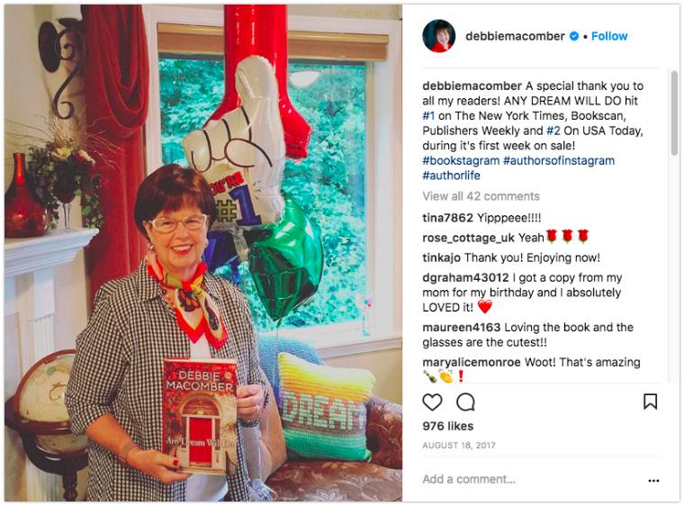 Bestseller list celebration post