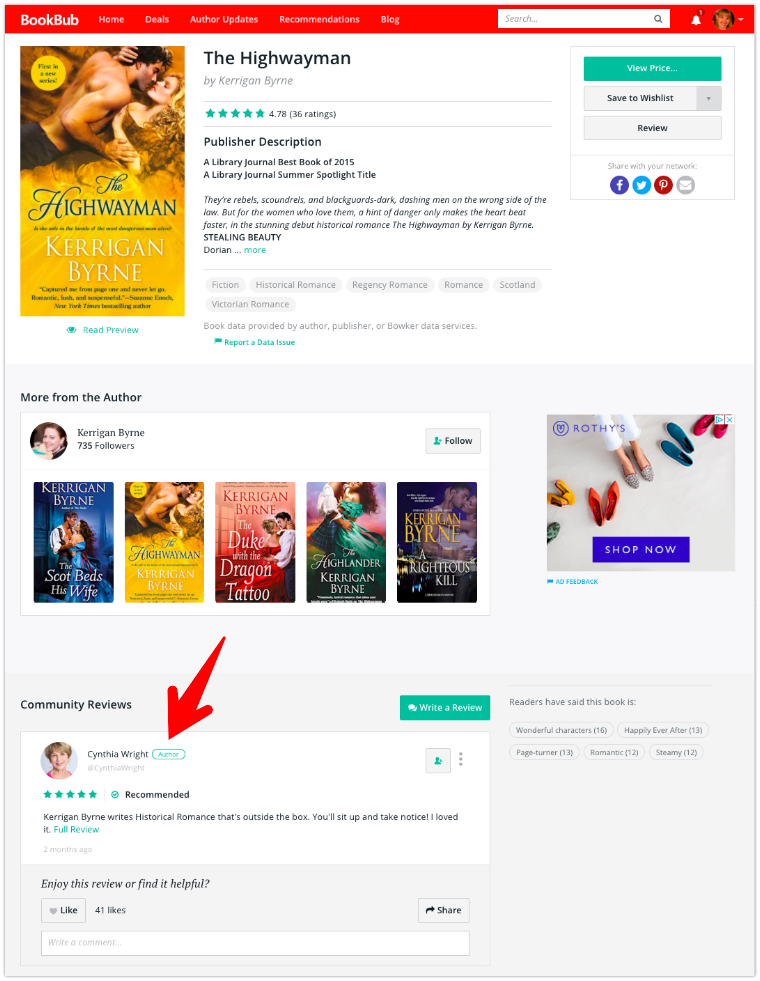 BookBub Book Page Review
