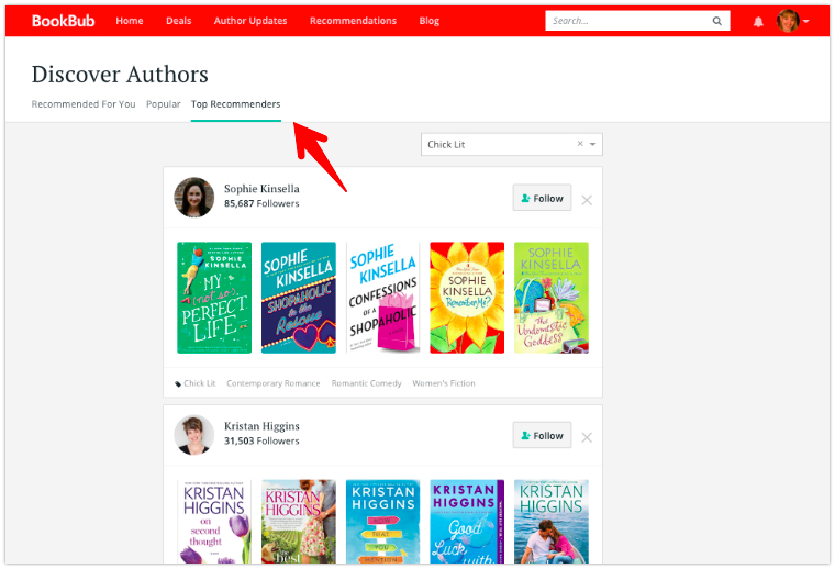 Discover Authors Page
