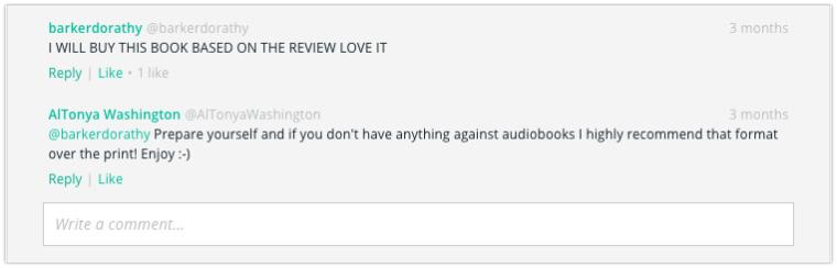BookBub Comments