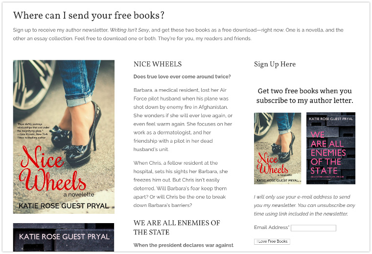 free book promotions free samples