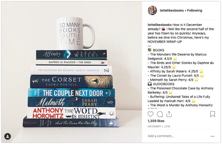 bookstagram book stack