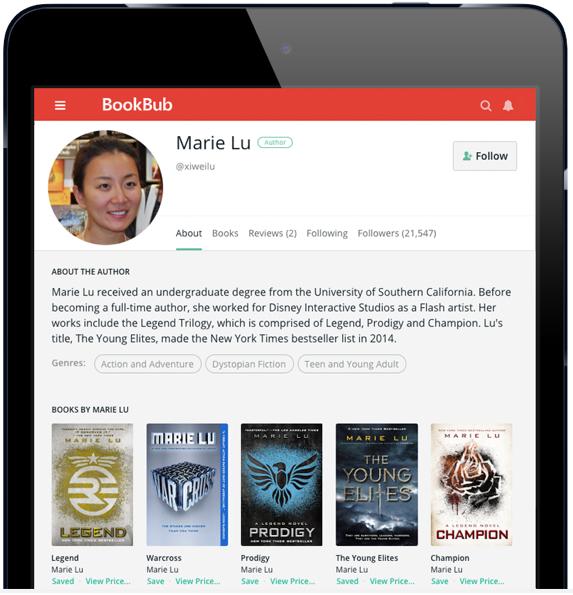 BookBub Author Profile - Marie Lu