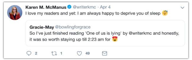twitter for authors karen mcmanus