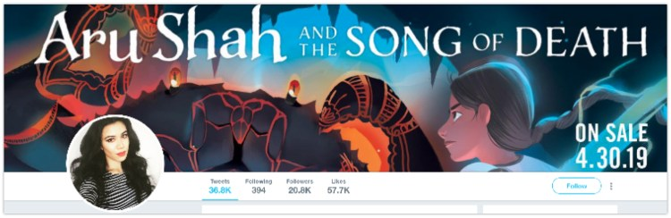 twitter for authors header image profile