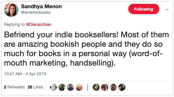 book marketing tip debut author indie booksellers