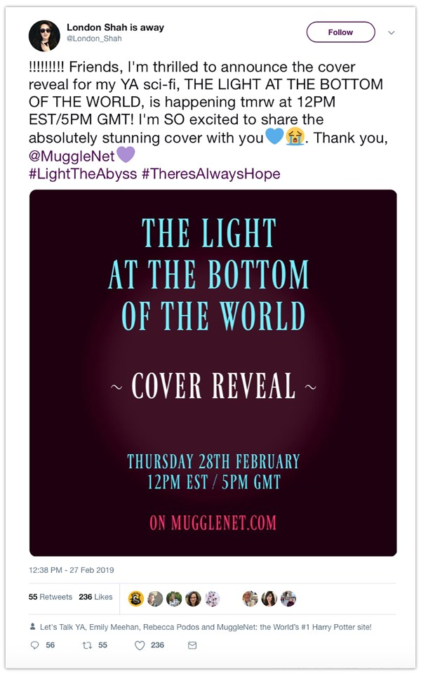 twitter for authors blog cover reveal