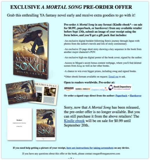 Preorder digital offer