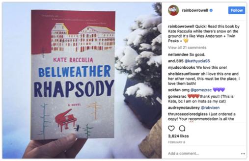 Share books on Instagram