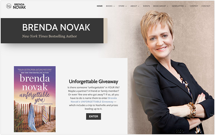 Brenda Novak author website design