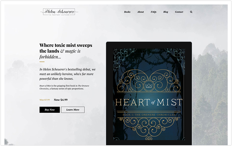 Helen Scheuerer author website design