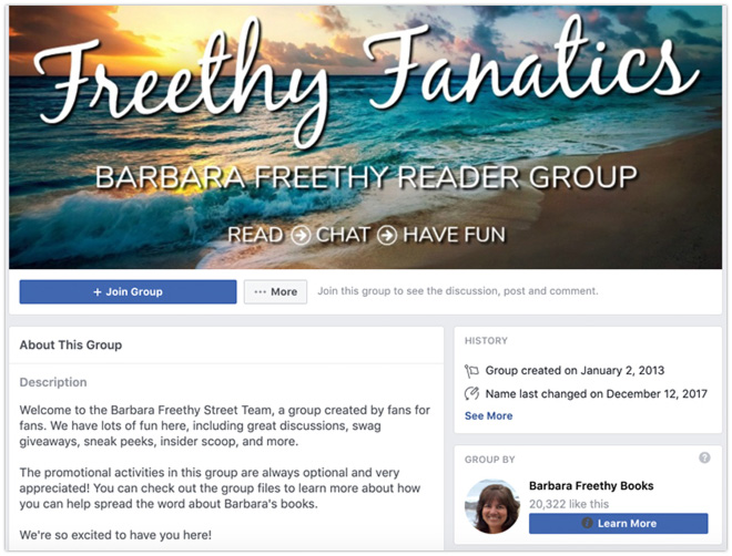 book marketing strategies reader group facebook