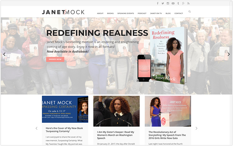 Janet Mock author website design