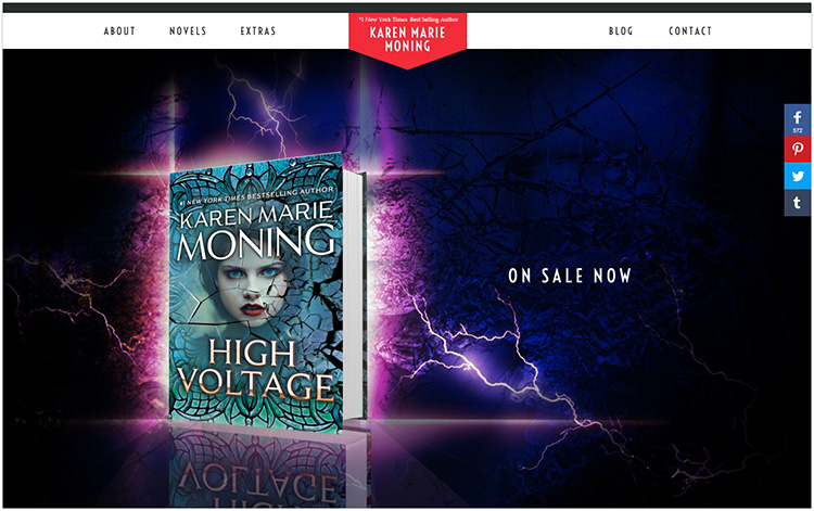 Karen Marie Moning author website design