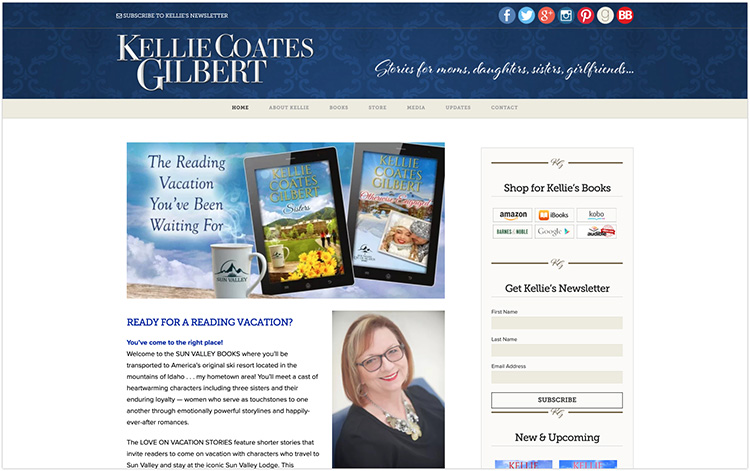 Kellie Coates Gilbert author website design