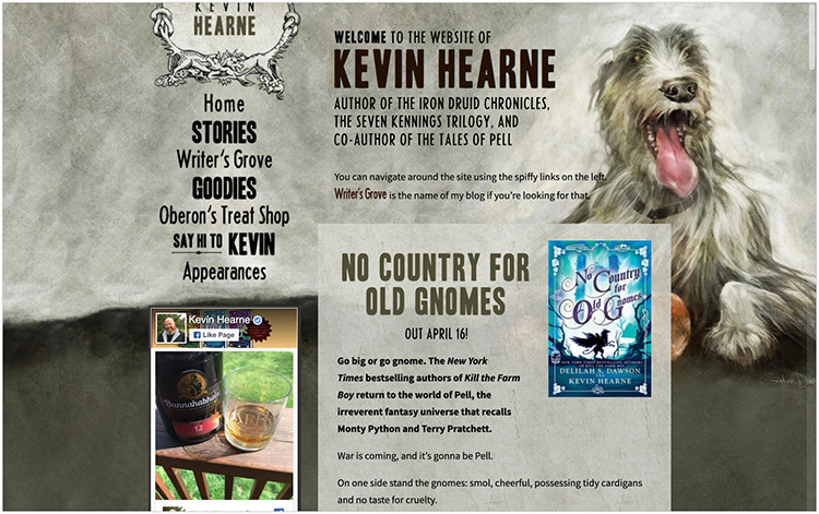 Kevin Hearne author website design