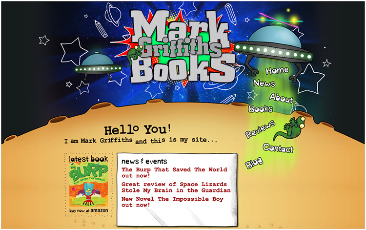 Mark Griffiths author website design