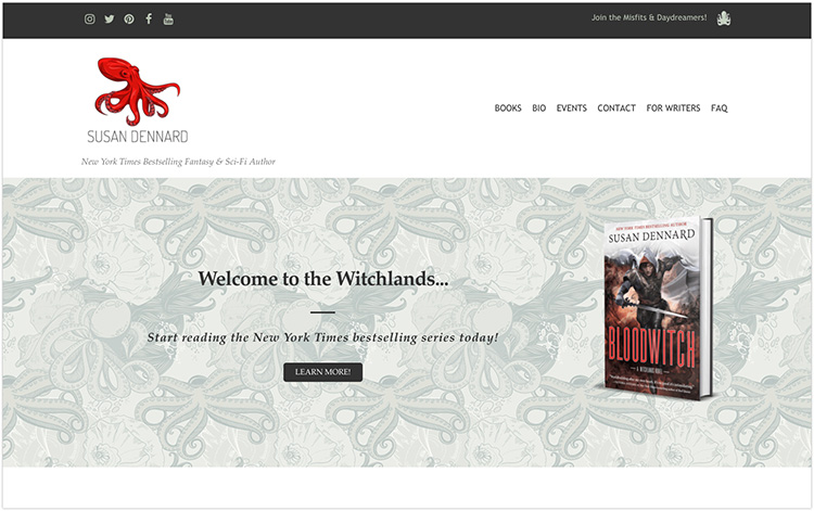 Susan Dennard author website design