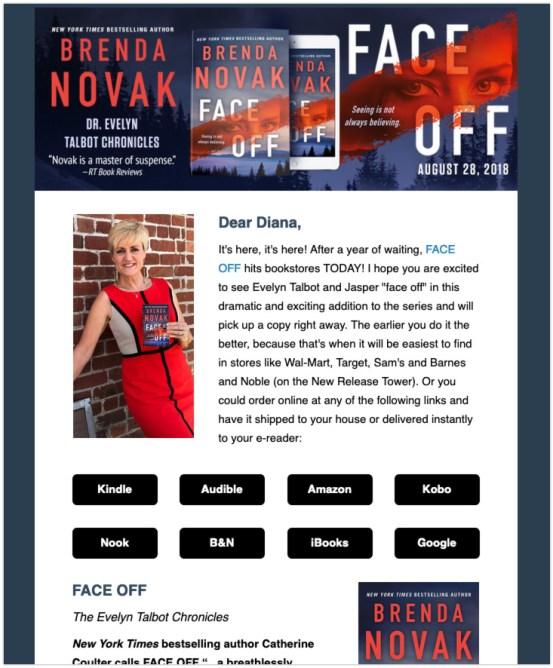 Brenda Novak author newsletter