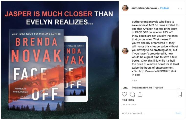 author instagram post