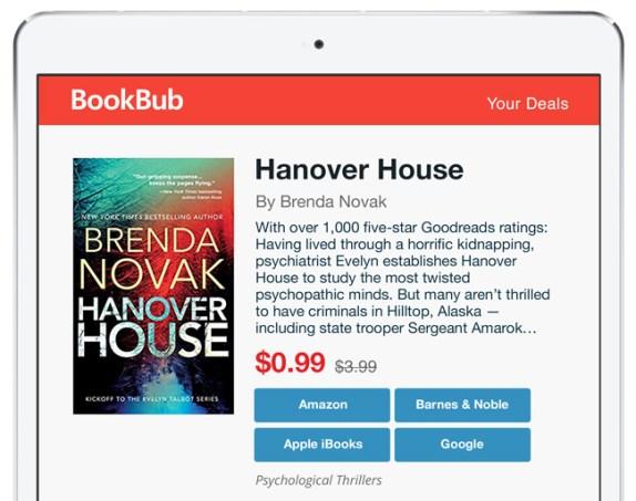 bookbub featured deal brenda novak