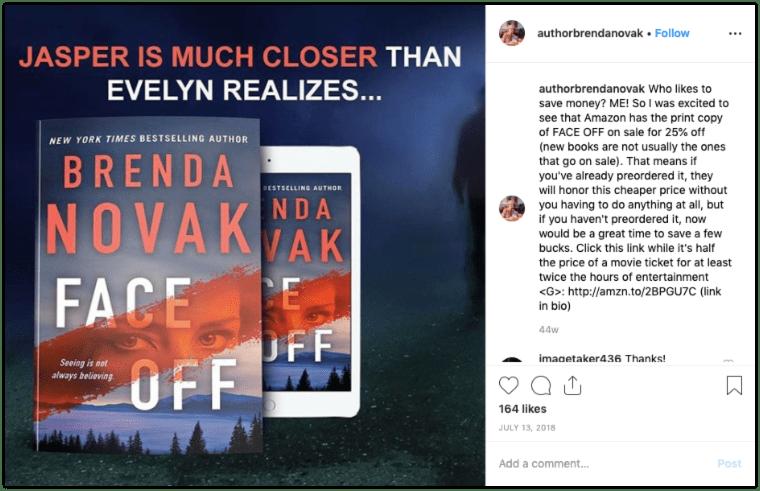 Instagram Post Promoting a Sequel